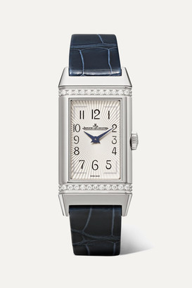 Jaeger-LeCoultre Reverso One Medium 20mm Stainless Steel, Diamond And Alligator Watch - Silver