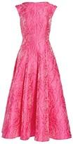 Talbot Runhof Rose Jacquard Mockneck Midi Dress