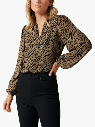 Forever New Milly Animal Print Blouse, Multi