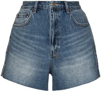 Ksubi Faded-Effect Denim Shorts