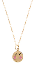 Alison Lou Enamel & yellow-gold Bashful Face necklace