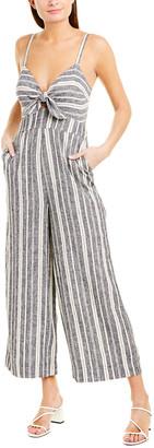 Splendid Tie-Front Linen-Blend Jumpsuit