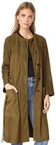 Theory Women's Alioth_metises Suede Outerwear