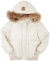 Mackage FUR-TRIMMED DOWN JACKET-CREAM SIZE 10