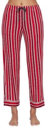 DKNY Cherry Stripe Jersey Knit Pajama Pants