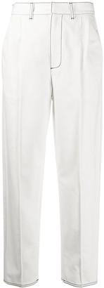 Alexander McQueen Contrasting Stitching High-Waist Jeans