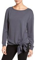 Hinge Women's Tie Front Fleece Top