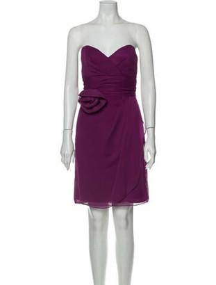 Lela Rose Strapless Knee-Length Dress Rose