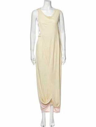 Marni Cowl Neck Long Dress w/ Tags Yellow