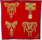 One Kings Lane Vintage Cartier Silk Brooch Scarf