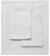 Melange Home Cotton Solid Hemstitch Sheet Set