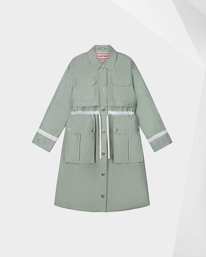 Hunter women's refined waterproof garden trench coat