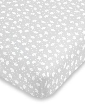NoJo Elephant Print Crib Sheet Bedding