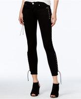 Hudson Suki Lace-Up Black Wash Skinny Jeans