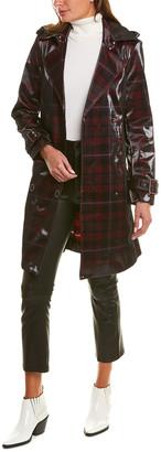 Elie Tahari Natania Leather Coat
