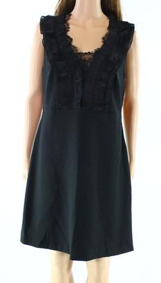 Julia Jordan Women's Sleeveless Lace Inset Bodice Empire Flair Skirt