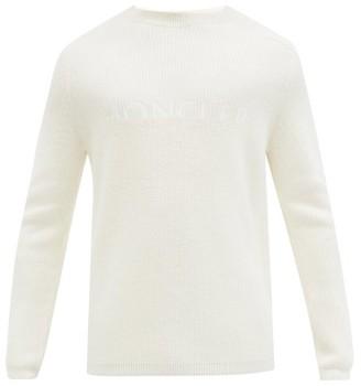 Moncler Logo-jacquard Wool-blend Sweater - White