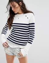 Lovers + Friends Nautical Stripe Sweater