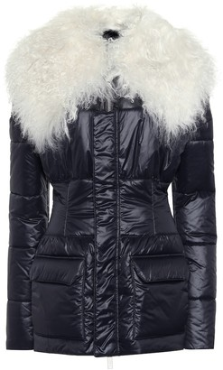 Unravel Fur and leather-trimmed jacket