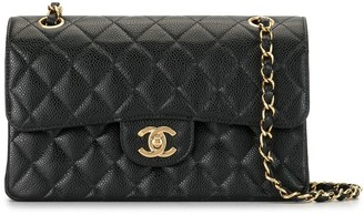 Chanel Pre Owned 2003 Double Flap Chain Shoulder Bag