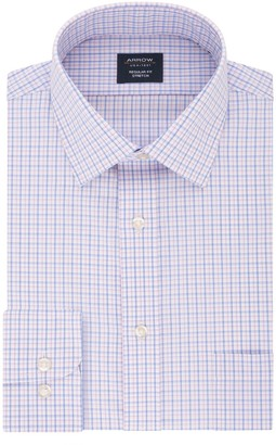 Arrow Men's Slim-Fit Stretch Spread-Collar Dress Shirt