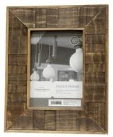 "Threshold 5""x7"" Antiqued Wood Frame Coffee"
