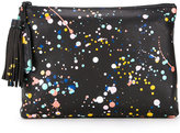 Loeffler Randall Paint print make-up bag - women - Leather - One Size