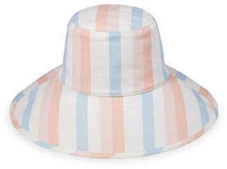 LACK OF COLOR Holiday Striped Canvas Wide-Brim Bucket Hat
