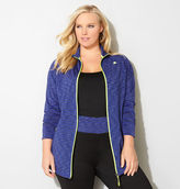 Avenue Spacedye Stripe Active Jacket