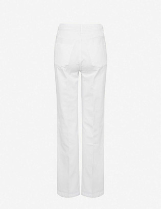 J Brand Athena straight high-rise cotton-blend trousers