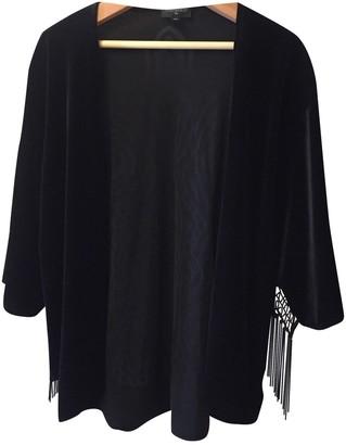 Topshop Tophop Black Velvet Jacket for Women
