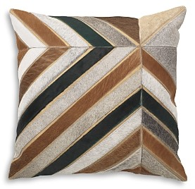 Mitchell Gold Bob Williams Chevron Stripe Calf Hair Pillow, 22 x 22