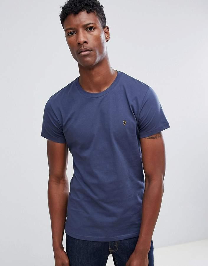 Farah Farris slim fit logo t-shirt navy