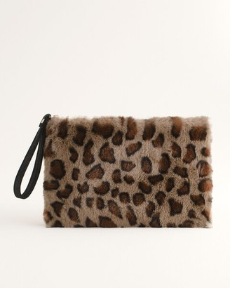 Chico's Faux-Fur Wristlet