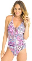 Sunseeker Mosaic Lace Up One Piece