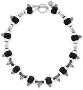 BCBGeneration Silver-Tone Black Collar Necklace