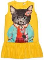 Gucci Children's silk dress with kitten print