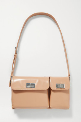 BY FAR Billy Glossed-leather Shoulder Bag - Sand