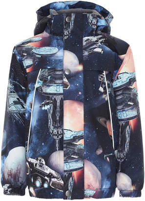 Molo Boy's Castor Space Print Functional Waterproof Jacket, Size 4-6