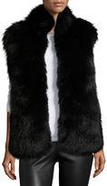 Diane von Furstenberg Fox & Rabbit Fur Vest