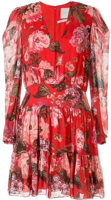 Ingie Paris Floral Long-Sleeve Shift Dress
