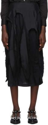 Comme des Garcons Black Broadcloth Tentacle Skirt