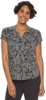 Dana Buchman Women's Shirred Blouse