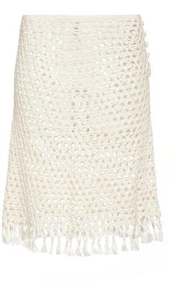 Marysia Swim Crochet-Knit Mini Skirt