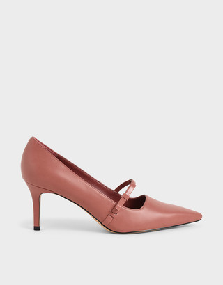 Charles & Keith Mary Jane Stiletto Heel Court Shoes