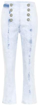 Balmain Embellished high-rise jeans