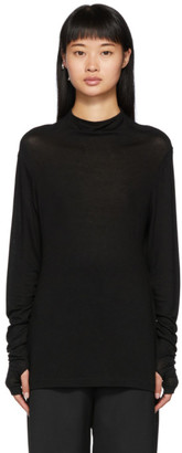 Totême Black Mont Blanc Long Sleeve T-Shirt