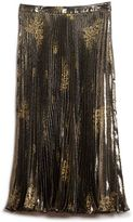Suno Metallic Midi Skirt