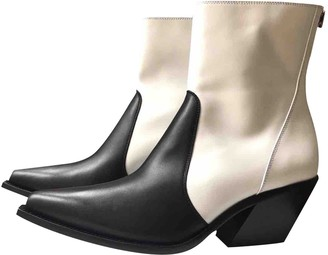 Givenchy White Leather Boots