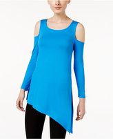 Cable & Gauge Asymmetrical Cold-Shoulder Top
